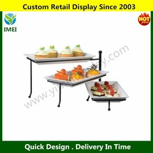 Metal 3 Folding Three-Tier Stand with Melamine Platters