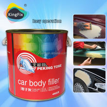 easy sanding yellow color hardener and putty for body work