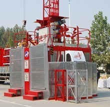 250m SC series construction hoist, construction lifting equipment hoisting for building / chimney