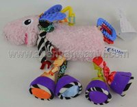 Manufacturer soft colourful plush sheep baby toy