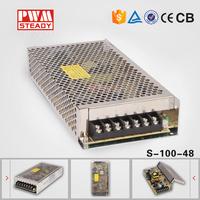 100% test 48 volt ac to dc single output 100 watt power supply