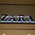 304# metal personalizado sinais led backlit sinais diferentes estilos de letras do alfabeto