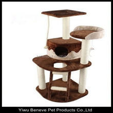 super quality cat tree with cat house/cat seat/cat furniture