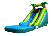 JumpOrange Commercial Grade 18' Tropical Titan Wet / Dry Inflatable Water Slide
