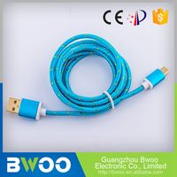 Cheap Prices Customize Ce Certified Usb Charging Cable Fabric 2 M
