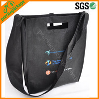 Eco-friendly recycle non woven college student shoulder bag with custom printing