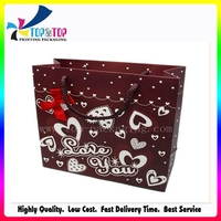 Chocolate Color Printed Paper Bag for Gift