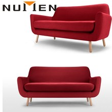 NUMEN top quality fashionable living room red fabric sofa