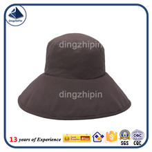 Big brim bucket cap with sold color sold color plain bucket cap