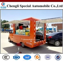 China Popular Mobile Catering Food Van (vending platforms on both side with back side door open)/Karry catering food vans