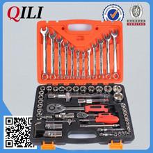 """61PCS socket wrench set with ratchet handle in case, 1/4"""" Dr.& 1/2"""" Dr., CR-V"""