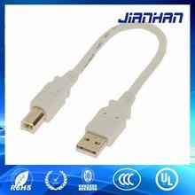 Blanc 24 awg USB 2.0 mâle à mâle câble de l'imprimante de câble