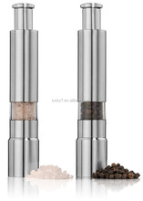 Salt and Pepper Grinder Set Stainless Steel Salt and Pepper Mills Sleek Design Works Great With Peppercorns Sea Salt