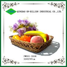 Eco- amichevole di frutta rettangolare vassoio cestello in vimini