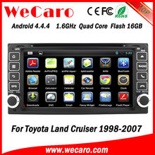 Wecaro 1.6GHZ 2 din android car pc dvd for toyota hilux 2008 GPS navigator TV Radio tuner CD Player