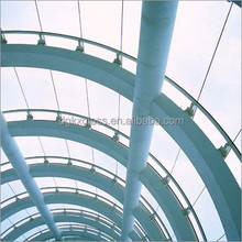curved building tempered glass windows