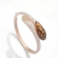 31523 cat's eye dimond earing jewellery women bangle watch