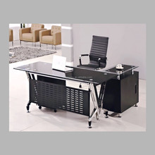 hot sell stainless steel tempered glass office desk