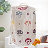 Children's 100% cotton baby sleeping bag detachable sleeve and detachable 100% cotton fillings quilt for four seasons