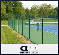 cheap price plastic chain link fence /temporary chainlink fence