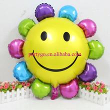 New arrival 85*82 cm rainbow sunny flower balloon foil helium balloons for birthday party decoration globos,sunflower balloon