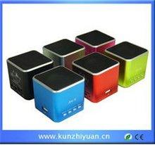 Mini speaker, portable speaker with FM, 2012 hot sales speaker box portable speaker vibration speaker audio speaker