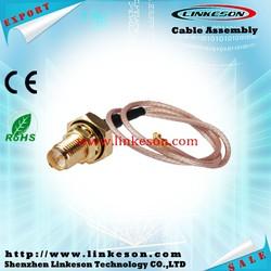 U.FL IPX to RP-SMA female bulkhead rf Pigtail Cable Jumper