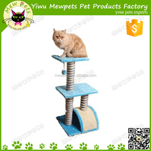sky blue oem cat scratcher, simple sisal post, cat tree with perch