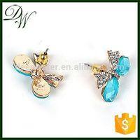 Cheap Prices!! Latest Design Popular Zircon stud earring posts pave earrings, jaipuri jewellery