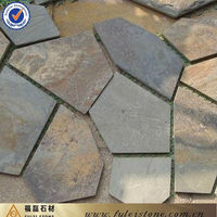 Multicolor Nautral slate type Flagstone slate pieces for floor