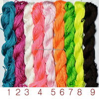 1MM mixed color Flexible cord Chinese knot cord DIY hand-knitted rope BD001