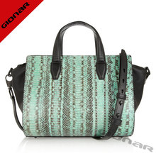 2015 fashion crocodile leather stylish women shoulder bags handbags