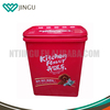 Hot sale red 15kg large plastic food storage container on Alibaba