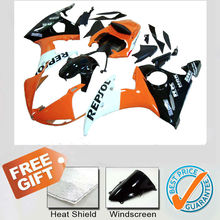 Fairing kit For YAMAHA R6 2003-2005 orange and white fairing body