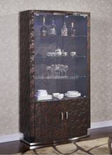 2015 best seller wooden wine cabinet /stainless steel Display Cabine C126