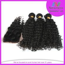 Premium quality wholesale price new arrival brazilian deepwave hair lace closure