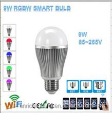 2015 New Wireless Bulb Lights 9W 2.4G RF Remote Control WiFi/3G Control via Mobile or Pad Mi-Light Bulb Lights RGBW