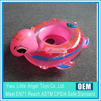 Inflatable Sea Animal Pink Turtle baby seat Handle Boat Ring