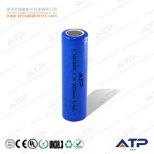 Best battery for electric scooter / 1x18650 lithium rechargeable battery / li-ion battery 3.7v 2000mah