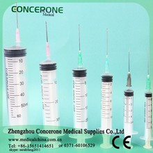 3 part disposable syringe 1ml 2ml 3ml 5ml 10ml / 3 piece seringue / luer slip or luer lock 3 part siringa