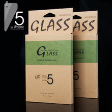 "JJL Tempered Glass Screen Protector For iPhone 5S (0.3mm 4"" 2.5C 9H HD Clear)"