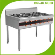 Restaurant cooking quipment factory wholesale outdoor lpg gas range/ gas range heater with 8 burners