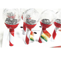 2014 NEW red plastic LED solar crack glass garden light for garden,solar glass