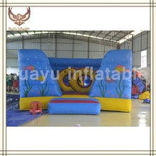 China inflatable fish world inflatable bouncy castle,commercial inflatable castle