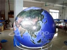 Custom 3mD Full printing inflatable PVC Earth balloon