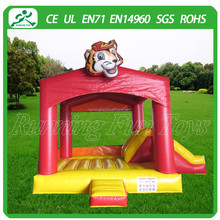Tiger inflatable bouncy castle, Inflatable bouncer for sale, inflatable bouncer slide
