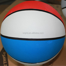 Customized hot sale new design good bounce rubber basketball