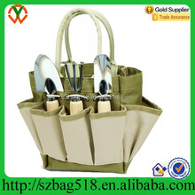Trolley Picnic Time Garden Tote with Tools Beauty Canvas Picnic Bag
