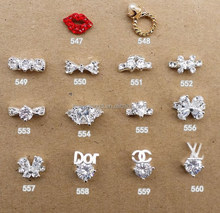 Wholesale rhinestone 3d nail art charms/finger nail charms/nail art supplies