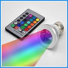 3w E14 DMX RGB led heat resistant gu10 35w/50w halogen lamps